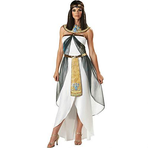 Ägyptische Königin-Kostüme der Frauen-sexy griechische Göttin, erwachsenes Partei-Fantasie-Halloween kostümiert arabisches langes Kleid