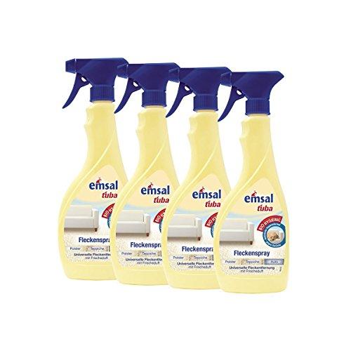 4x emsal tuba Fleckenspray 500 ml - für Polster, Teppiche und Auto geeignet