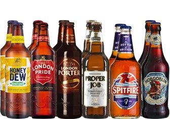 Englisches Bier Paket mit 12 Bieren
