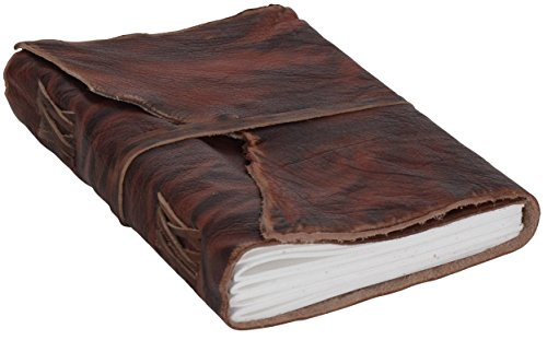 Notizbuch Gusti Leder ''Alice'' DIN A5 Edles Chices Leder-Accessoire Blanko | Nachfüllbare Seiten | Recyclebar | Braunes Büffelleder | Glattes Elegantes Leder - 2P29-24-3