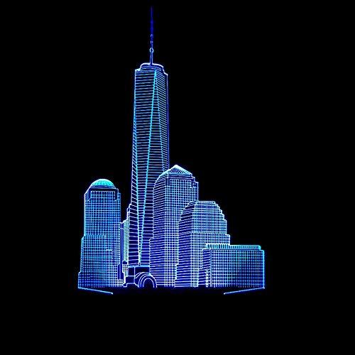Led Urlaub Geschenk Romantische Stadt Gebäude Shaped Lampe 3D Nachtlicht Visuelle Party Decor Usb Farbe Tischlampe Schlaf Beleuchtung Kinder Geschenke ()