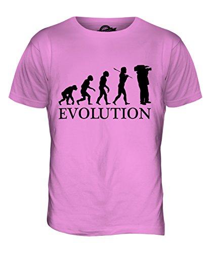CandyMix Kameraoperateur Evolution Des Menschen Herren T Shirt Rosa