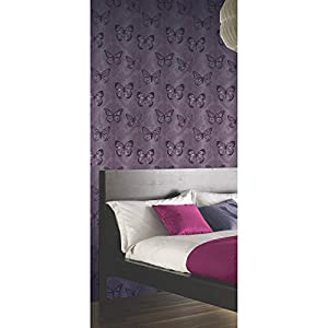 Arthouse Enchantment Wallpaper Midsummer Plum 661205 Sample by Arthouse