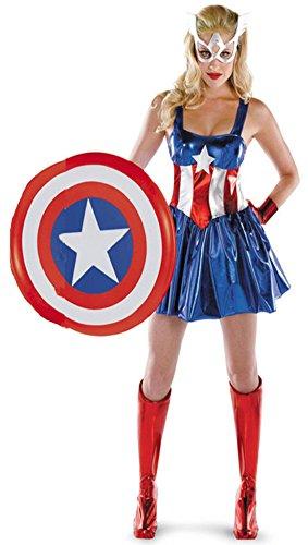 Halloween Avenger Kostüme (Aimerfeel Damen avengers captain america Abendkleid Kleidfrauen Superhelden-Kostüm, Größe)