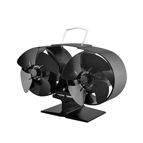 Festnight Ventilador de 8 Aspas Calor Powered Horno Ventilador Doble Motor para...