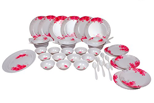 Royal Sapphire Desinger Plastic Dinner Set, 40-Pieces