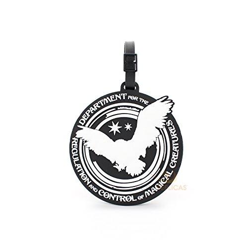 Etiqueta de equipaje Department of Magical Creatures Harry Potter, color negro