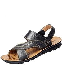GSHE Shoes Herren Sandalen Leder Strand Freizeitschuhe Mode Outdoor Sandal Hausschuhe