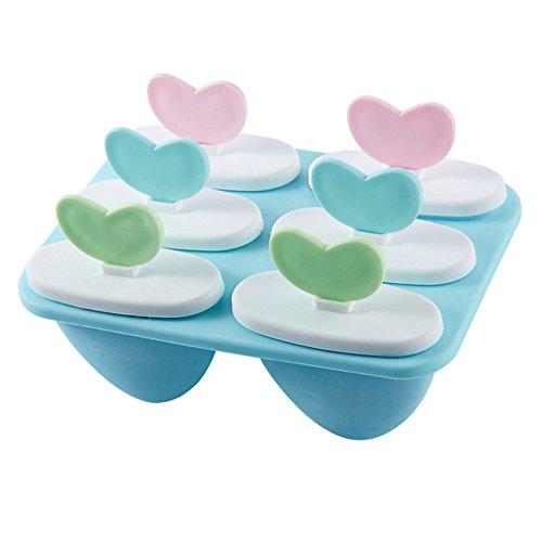 OFKPO Eisformen,Ice Cream Formen Maker aus schlagfestem Kunststoff,BPA-frei für selbstgemachtes EIS (Zufällige Farbe)