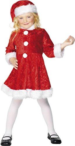 Imagen de mini miss santa costume, red with white disfraz