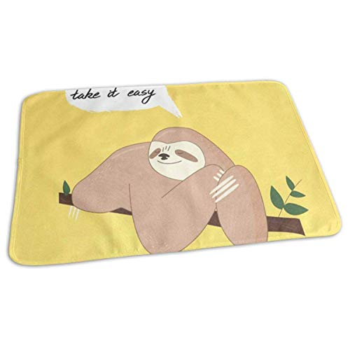 Voxpkrs Changing Pad Cute Sloth On The Branch with Quote Baby Diaper Urine Pad Mat Marvellous Toddler Children Urinal Mats Sheet for Any Places for Home Travel Bed Play Stroller Crib Car