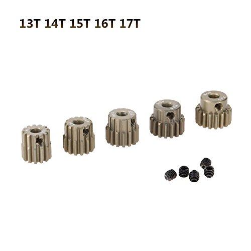 Prom-near Motor Getriebe 3.175mm T13-33 3.175mm M0.6Zahnrad Motor Zahnradsatz für 1/10 RC Auto LKW (13T 14T 15T 16T 17T) (Motor Lkw Rc)