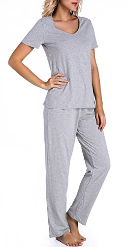 Chamllymers -  Pigiama due pezzi  - Donna Grey