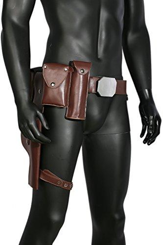 Wellgift Halloween Luke Gürtel mit Taschen & Pistolenholster Replik Einstellbare Cosplay Kostüm Kleid Kleidung Zubehör für Erwachsene -