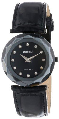 Jowissa - J1.023.M - Montre Femme - Quartz Analogique - Bracelet Cuir Noir
