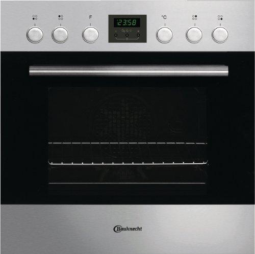 Bauknecht EMCK 7253 IN Einbau-Elektroherd / A / Edelstahl / Kochstellensteuerung Cookmatic / ClassicCook+ Elektronik-Uhr