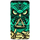 Smartskkins Mobile Skins Compatible with Oneplus 6 Back and Sides (Green Owl)