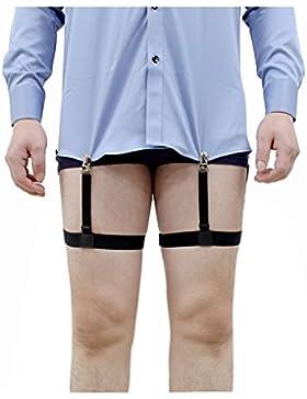 Jelinda Camisa para hombres Stays con abrazaderas antideslizantes 1 par