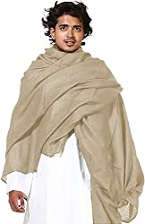 Wool & Bends Hot Kashmiri 100% Pure Wool Brown Lohi / Shawl For Men