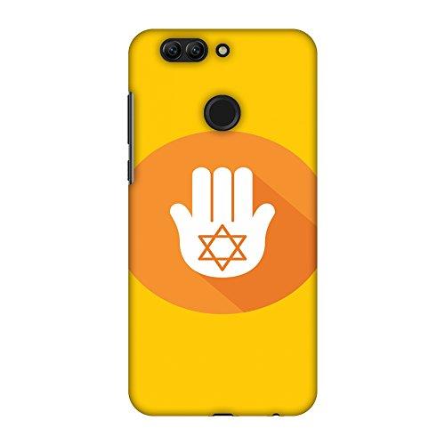 Amzer Slim Fit Handarbeit Designer Printed Hard Shell Case Back Cover Skin für Huawei Nova 2Plus-Chanukka 3HD Farbe, Ultra Light Back Case