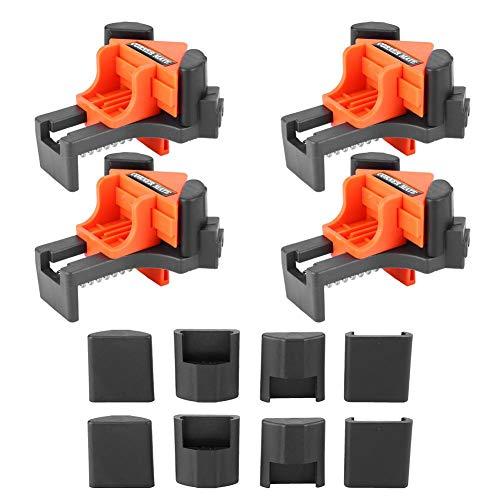 4 abrazaderas de ángulo recto multifuncionales de 90 grados con clip de giro ajustable para herramienta de carpintería