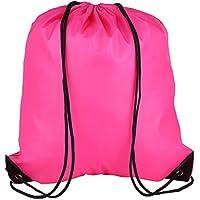 Aramox Mochila Impermeable con cordón Unisex Bolsa de Deporte Bolsa Plegable al Aire Libre Organizador de Viaje para Gimnasio Deportes Natación de Playa(Rose Red)
