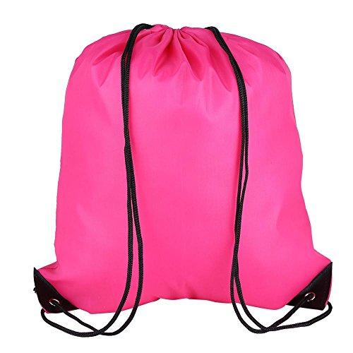 Cinch-kordelzug Schulter Tasche (GLOGLOW Kordelzug Tote Bag Gym Wasserdichte Tasche Kordelzug Gym Schwimmbeutel für Schule, PE & Sport, Kordelzug Rucksack, 04)