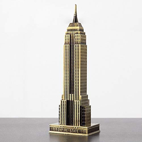 Elviray Modernes Zuhause New York Empire State Building Metall Architekturmodell Ornamente Wohnzimmer Bar Dekorationen -