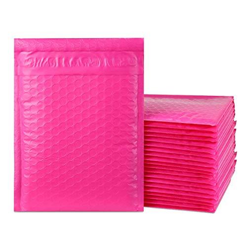 imbaprice 25Stück, # 0(15,2x 25,4cm) Hot Pink Farbe selbst Seal Poly Bubble Versandtaschen gepolstert Versand Umschläge (Gesamt 25Taschen) - Seal Versandtaschen Poly Selbst