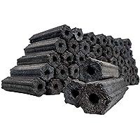 com-four® 10 Kg Briquetas de carbón, carbón de leña 100% Natural para ahumador, barbacoas de Bolas y Soportes (10kg - briquetas de la Naturaleza.)