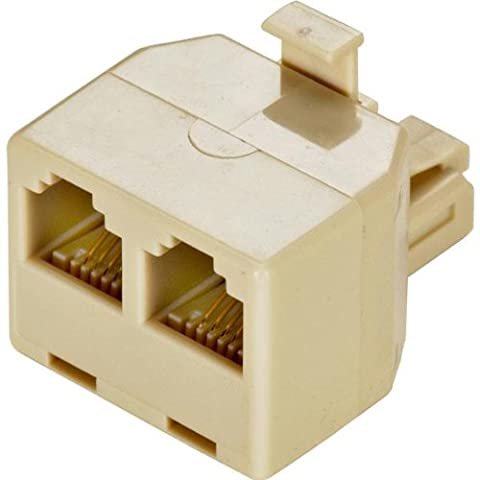 Steren 4-Conductor Telephone Adapters - Ivory Color-