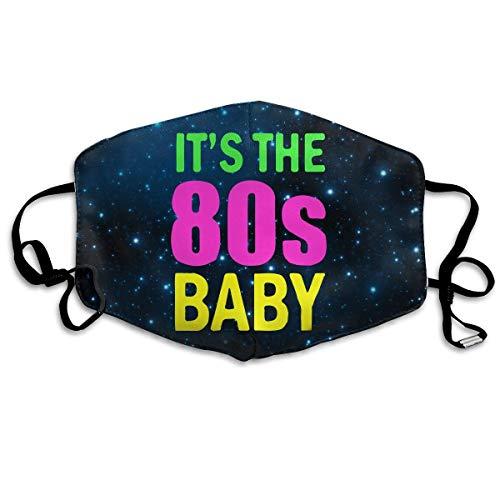 WBinHua Masken, Masken für Erwachsene, Breathable Mask Anti Dust, Baby It's The 80s Unisex Dust Allergy Flu Masks Cover Warm Respirator Germ Protective Breath Breath Healthy Safety Mouth Masks - Roboter-womens Licht