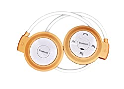 Defloc S503 Over Ear Wireless Headphones With Mic Gold