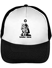 26b1136119bbf Star Wars Dark Side Darth Maul Vader Portrait Gorras Hombre Snapback  Beisbol Negro Blanco One Size