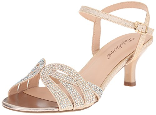 Pleaser Audrey 03, Damen Sandalen, Beige (Nude Shimmering Fabric), 38 EU (5 UK, 8 US)