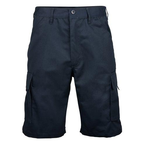 RTY - Pantaloncini Multi-Tasche 100% Cotone - Uomo Blu navy
