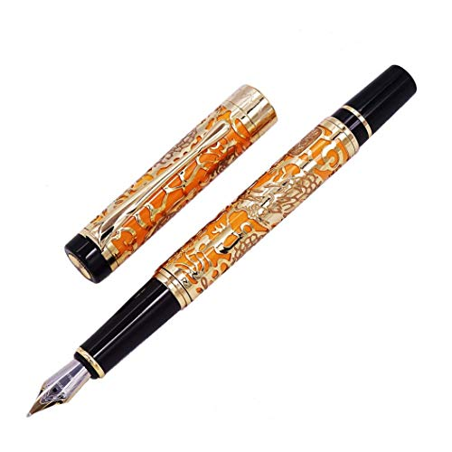 kalligraphie füller jinhao 5000 Chinesischer Drache Stil Luxus füllhalter Metall Mittlere füllfederhalter edel