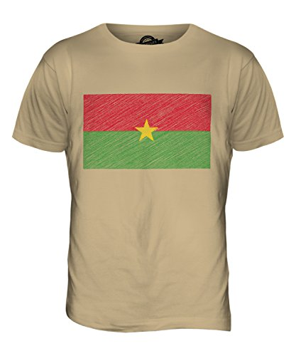 CandyMix Burkina Faso Kritzelte Flagge Herren T Shirt Sand