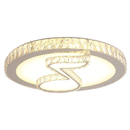 Kristall Neun Licht (WCUI Kristall Lampe Deckenlampe, LED Runde Schlafzimmer Lichter Hinweis K 9 Kristall Deckenleuchte Musik Studio Kristall Warm Licht Wählen ( größe : 60 ))