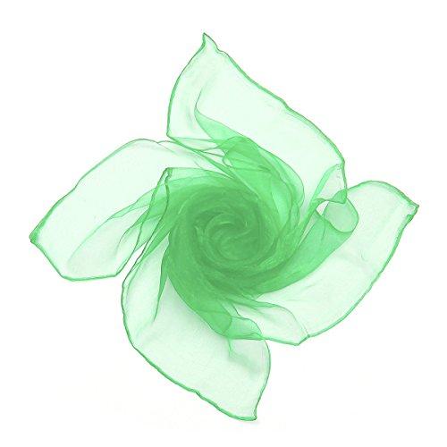Sheer Chiffon Platz Schal in den Farben - im Stil der 50er von Boolavard (Jade Green) (Sheer Grün)