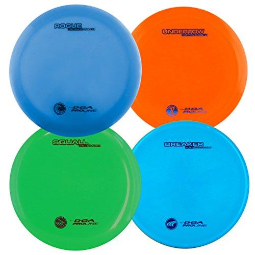 DGA Unisex Dsc-Pld Pro Disc Golf Set (Pack of 4), Multi-Colour, Size 9 DGA