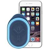 Ryght Pocket R481771 Enceinte nomade Bluetooth Outdoor/son très puissant 3Watts/micro intégré/longue autonomie/résistance à l'eau IP42/Housse incluse/Jack 3.5mm et câble USB/compatible avec Smartphone/tablette/ Ordinateur/ lecteurs MP3/MP4 Sky Petrol
