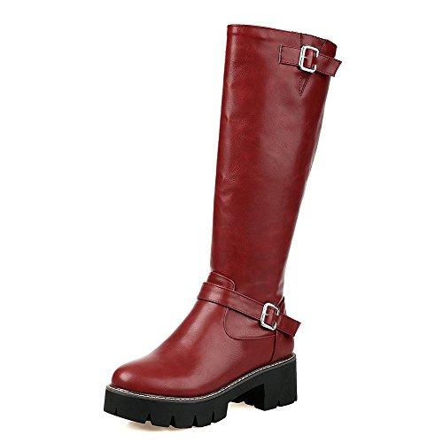 A&N ,  Damen Chukka Boots , rot - rot - Größe: 35.5 (Saints Frauen All Boots)