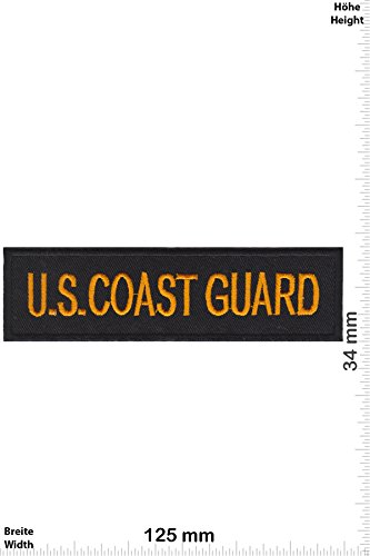 Patch-Iron-U.S. COAST GUARD - gold - - Military - - Iron On Patches - Aufnäher Embleme Bügelbild Aufbügler (Emblem Coast Guard)