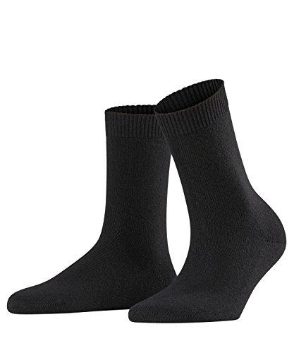 FALKE Damen Socken Cosy Wool, Merinowolle/Kaschmirmischung, 1 Paar, Schwarz (Black 3009), Größe: 39-42