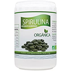 Spirulina Orgánica 500mg - 1000 comprimidos