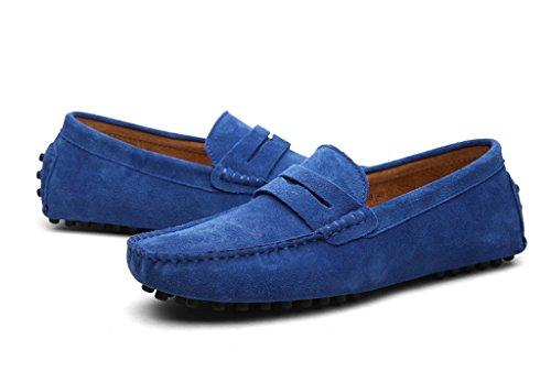 Meijili , Sandales Plateforme homme bleu roi