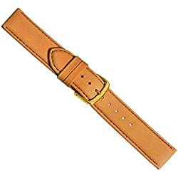 Replacement Band Watch Band Leather Kalf brown-beige 20416G, width:28mm