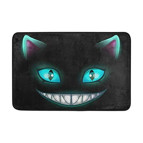 Miedhki Böse Tier Katze Gesicht Fußmatte Indoor Outdoor Matte Absorbieren Rutschfeste Polyester für Tür Küche Schlafzimmer Garten, 15,7 '' x 23,6 ''