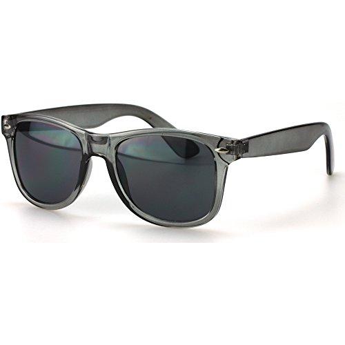 enbrille | Vintage-Look für Damen und Herren | verspiegelte Gläser | mit Federscharnier-Bügel | transparent | schwarz, blau, grün, orange, klar ()